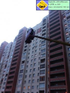 Замена ламп освещения, Аренда автовышки (812) 642-40-61